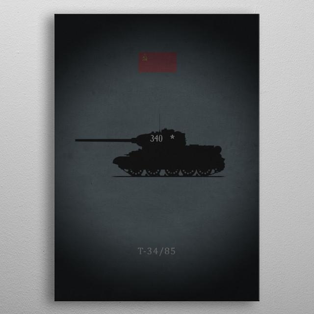 T-34/85 metal poster