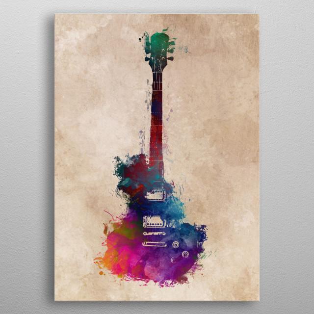Guitar metal poster