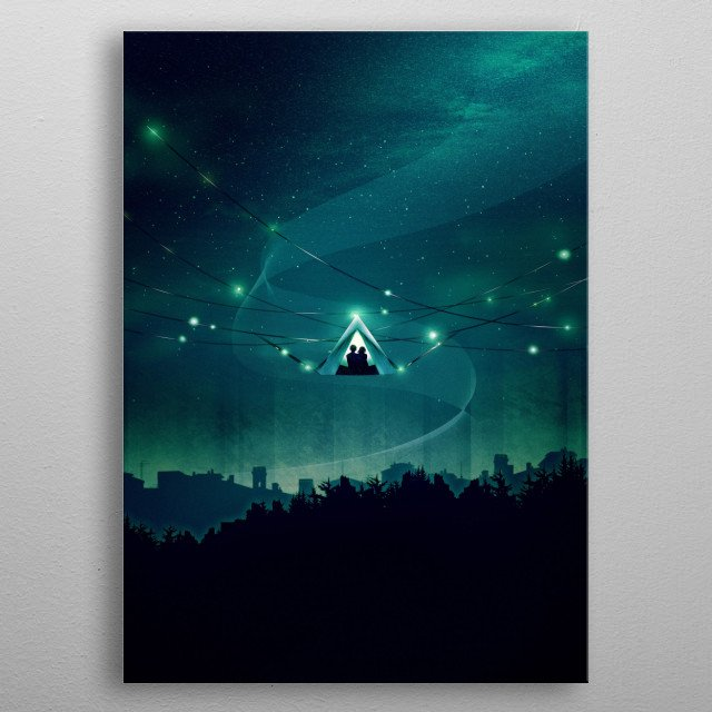 Fascinating metal poster designed by Schwebewesen Illustrations. Displate has a unique signature and hologram on the back to add authenticity to each design. metal poster