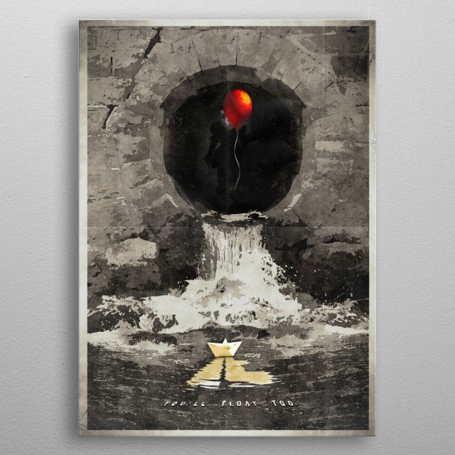 Stephen King's 'IT' - Based on the new reboot. metal poster