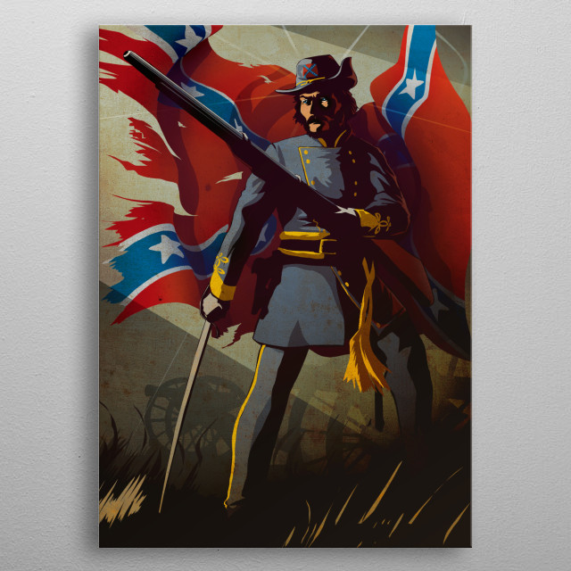 The Confederate metal poster