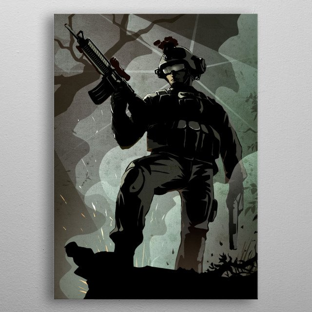 The Marine metal poster