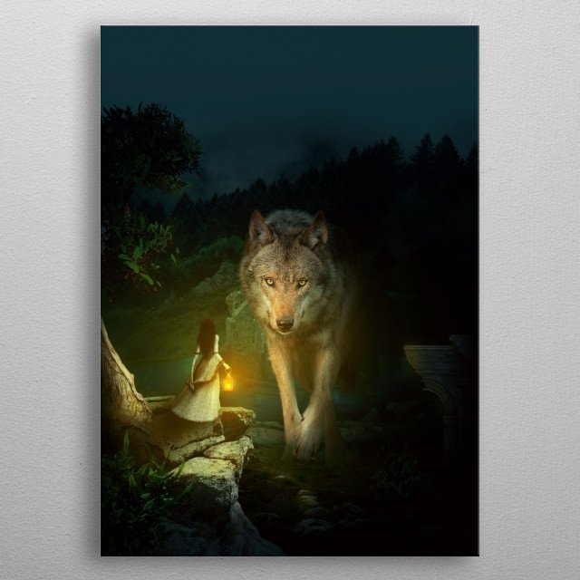 The Wolf metal poster