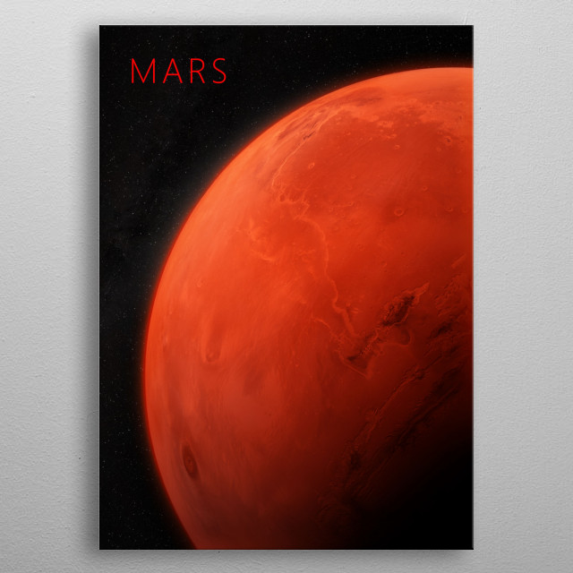 Mars - The God of War metal poster