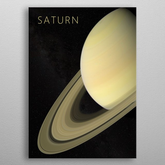 Saturn - The God of Agriculture metal poster