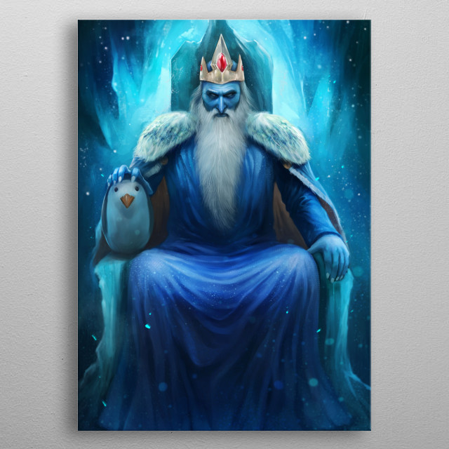 The Ice King by Nopeys metal poster
