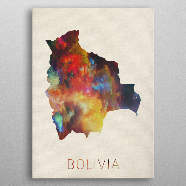 High-quality metal print from amazing Watercolor Maps Of The World collection will bring unique style to your space and will show off your personality. metal poster