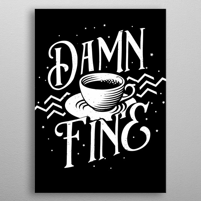 Cooper Approved Coffee Sign metal poster