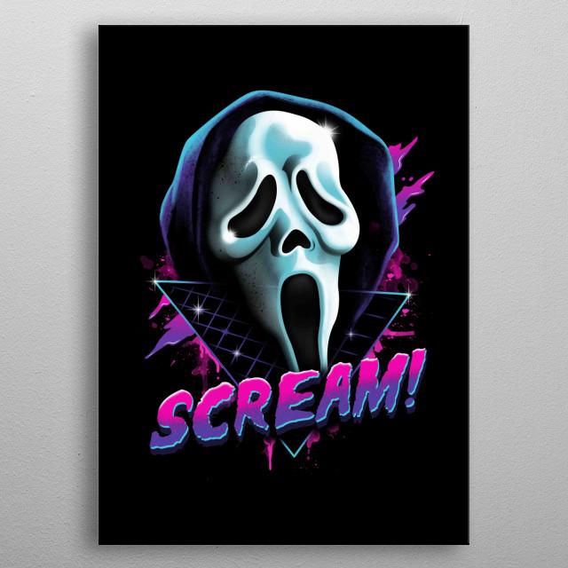 Rad Scream metal poster