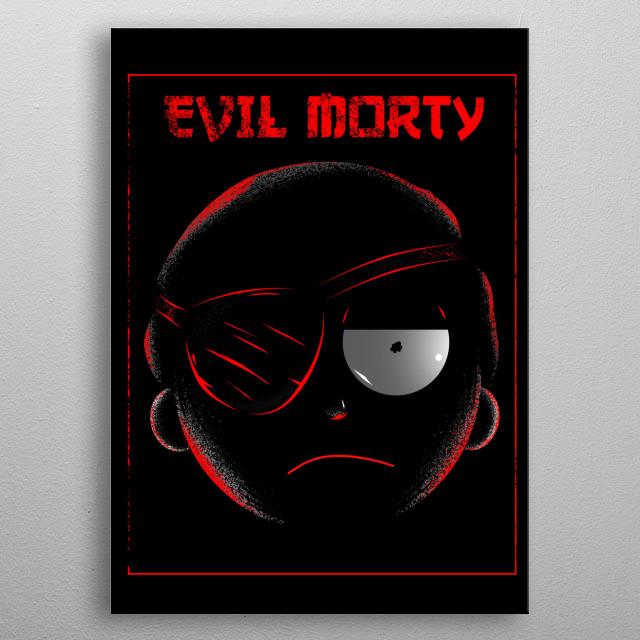Evil Morty metal poster