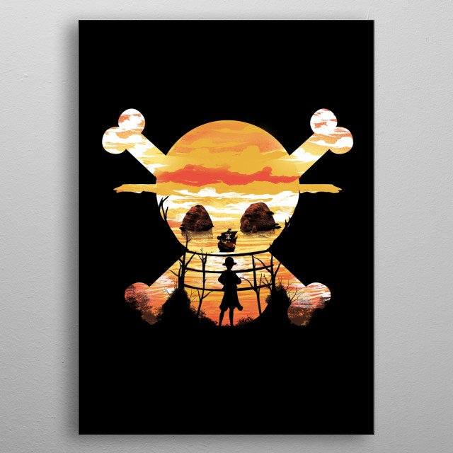 Straw Hat Crew metal poster