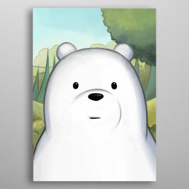Polar Bear. We Bare Bears Serie (3/3) metal poster