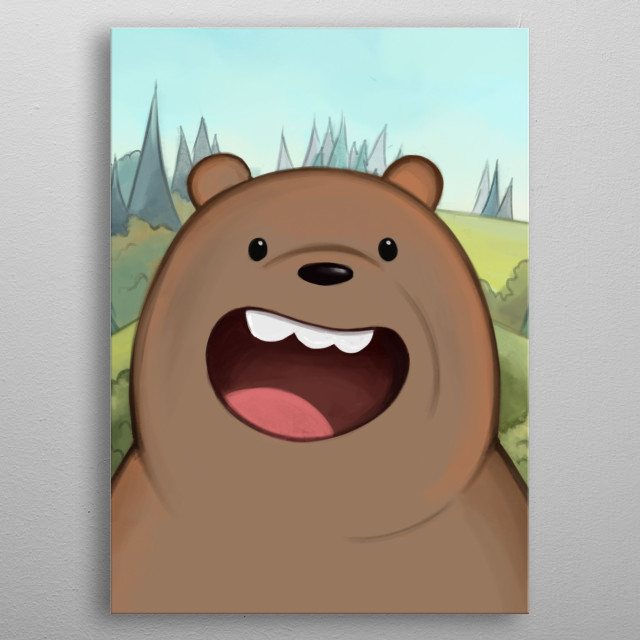Grizzly Bear. We Bare Bears Serie (2/3). metal poster