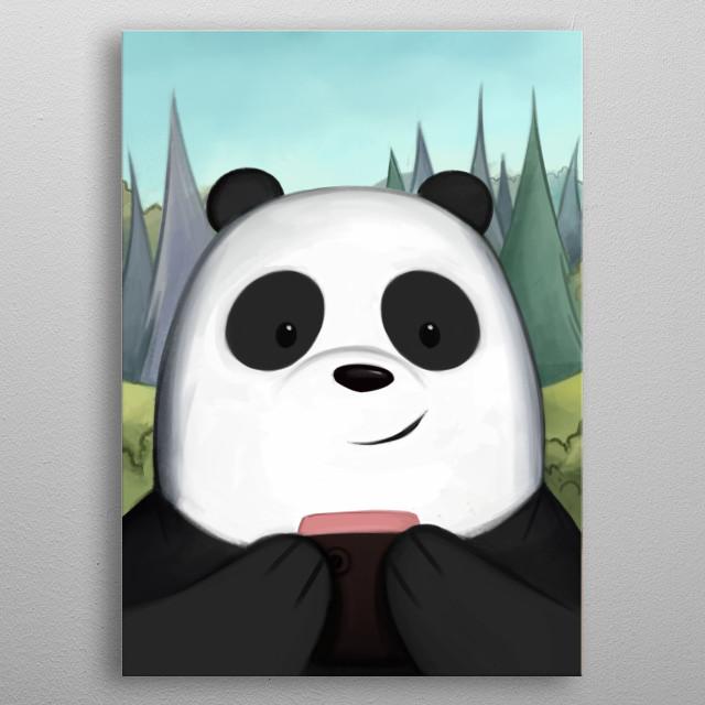 Panda Bear. We Bare Bears Serie (1/3).  metal poster