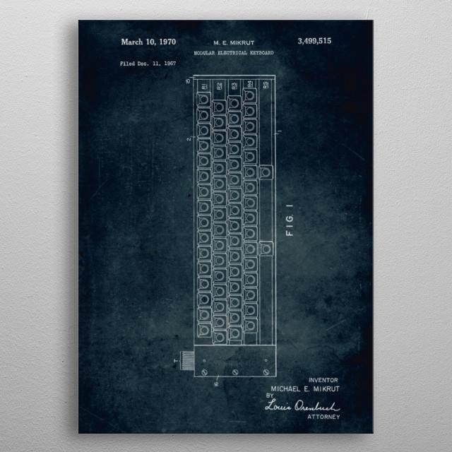 No317 - 1967 - Modular electrical keyboard metal poster