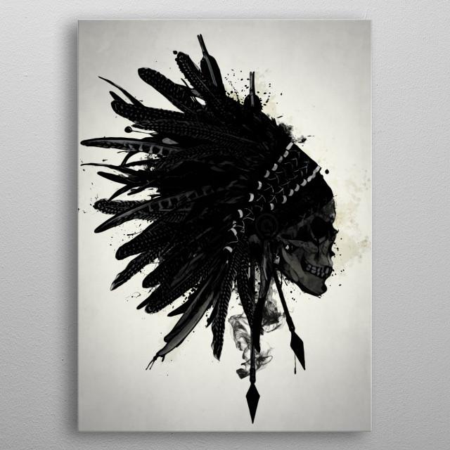 Warbonnet Skull metal poster