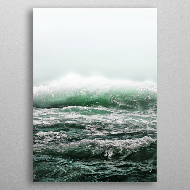 THE EMERALD SEA by Monika Strigel metal poster