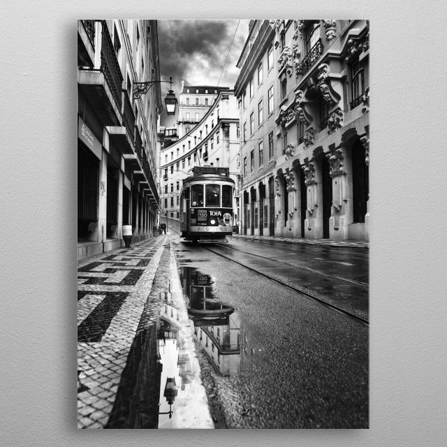 Lisbon metal poster