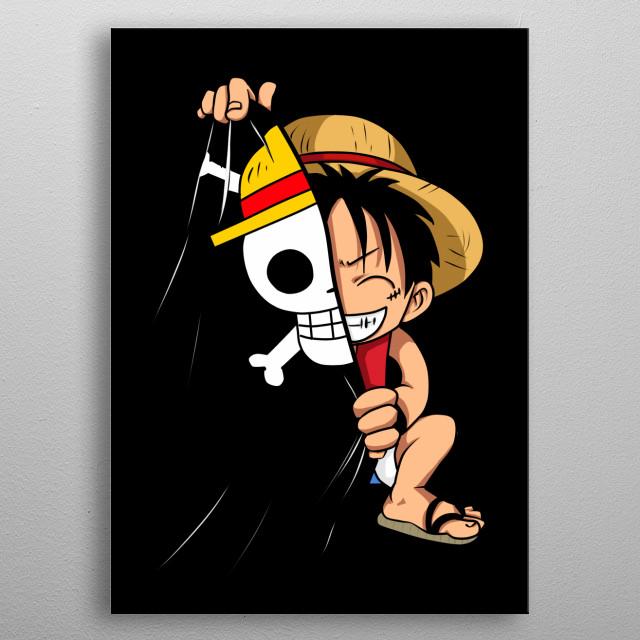 Chibi Luffy metal poster