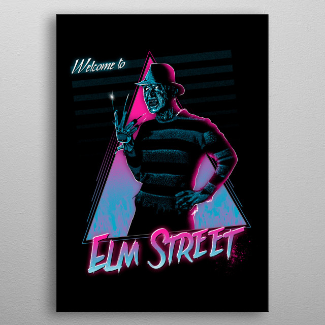 Welcome to Elm Street metal poster