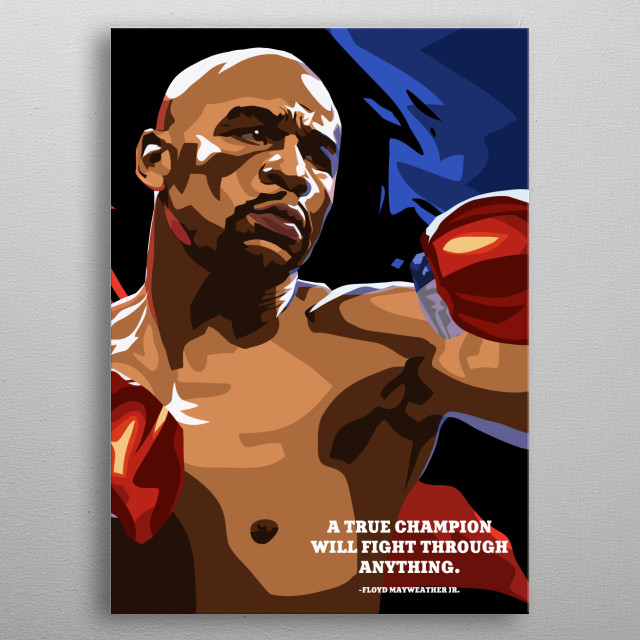 A true champion will fight through anything. metal poster