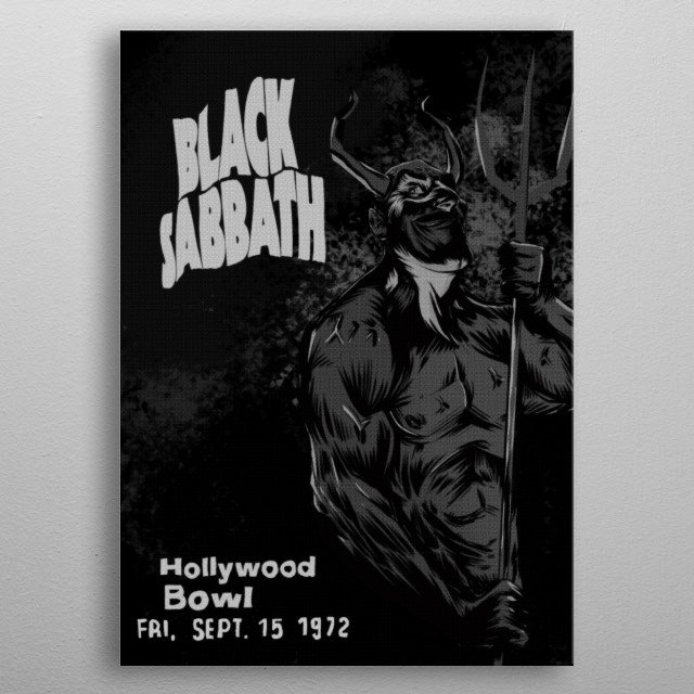 High-quality metal print from amazing Legends Of Rock Grayscale Edition collection will bring unique style to your space and will show off your personality. metal poster