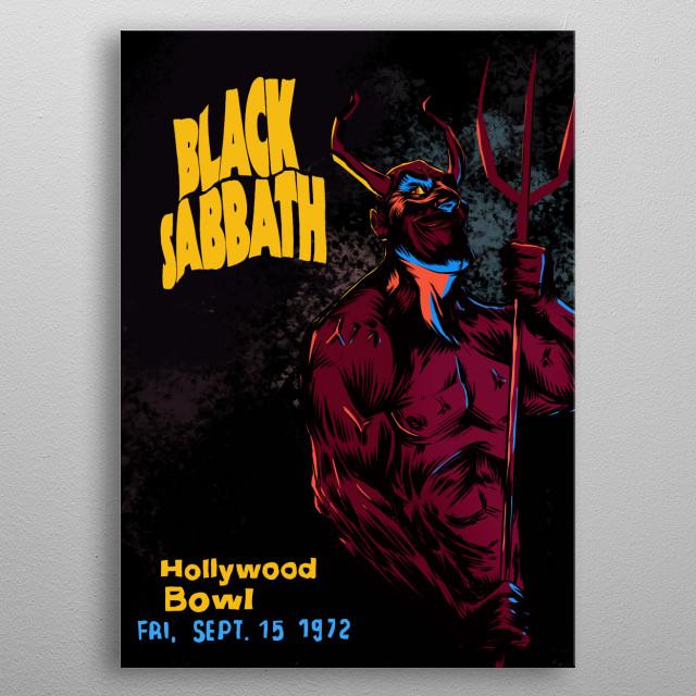 Black Sabbath metal poster