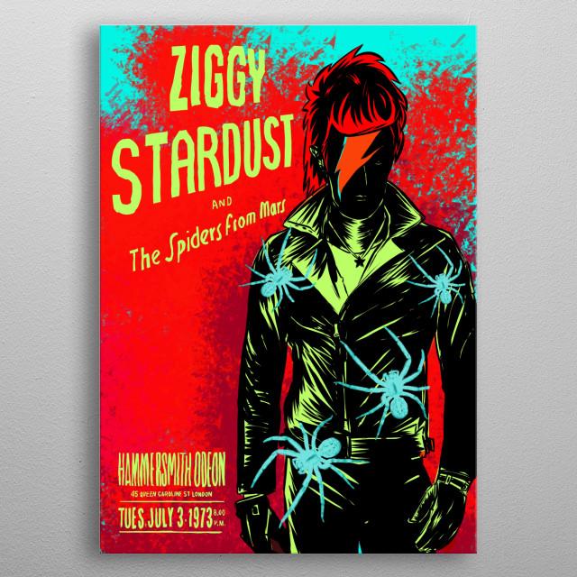 Ziggy Stardust metal poster