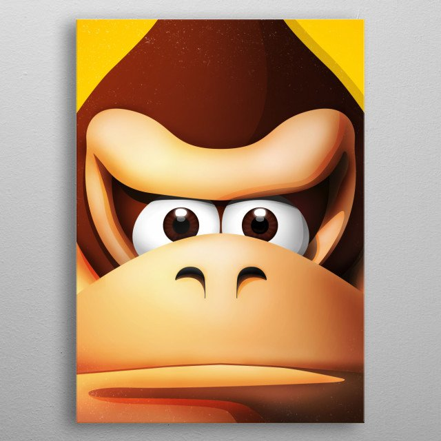 DK - Illustration with highlights and shadows. metal poster