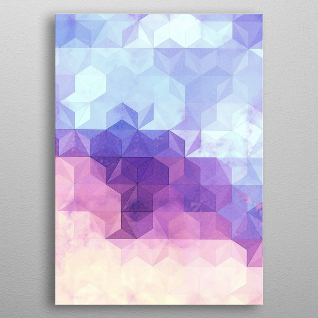 Abstract Geometric Background VII metal poster
