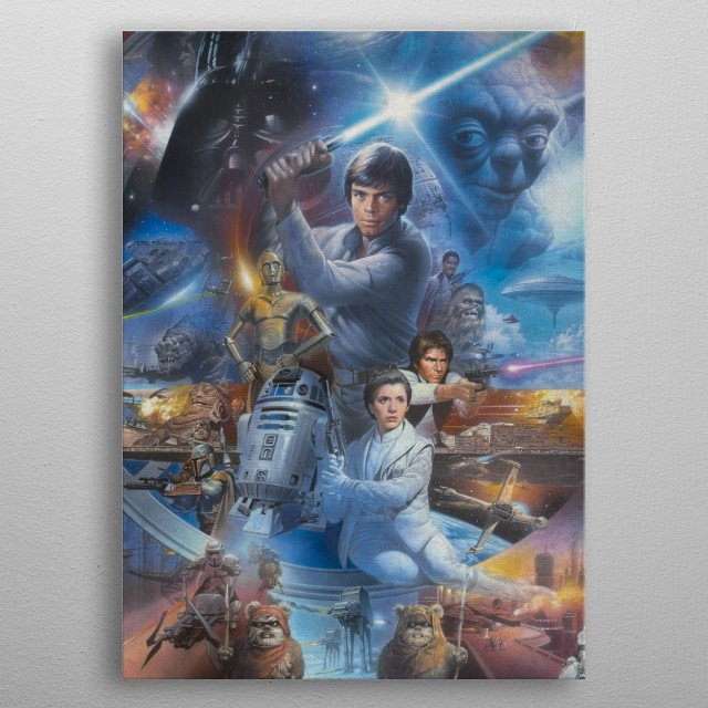 High-quality metal print from amazing Star Wars Epics collection will bring unique style to your space and will show off your personality. metal poster