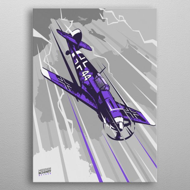 Messerschmitt Bf 109 metal poster