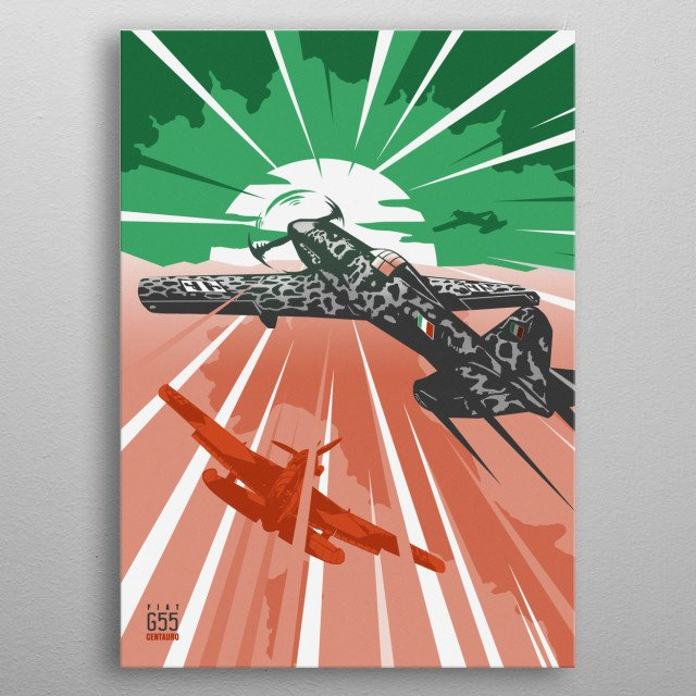 High-quality metal print from amazing Warplanes collection will bring unique style to your space and will show off your personality. metal poster
