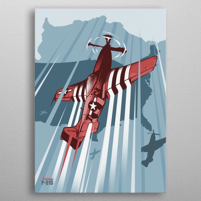 Mustang metal poster