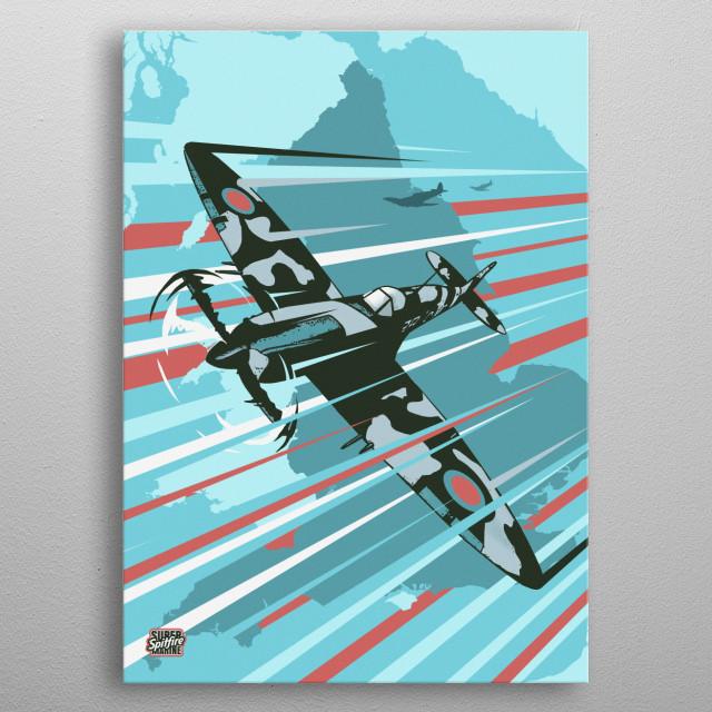 Spitfire metal poster