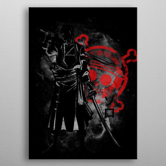 Space Pirate Hunter metal poster