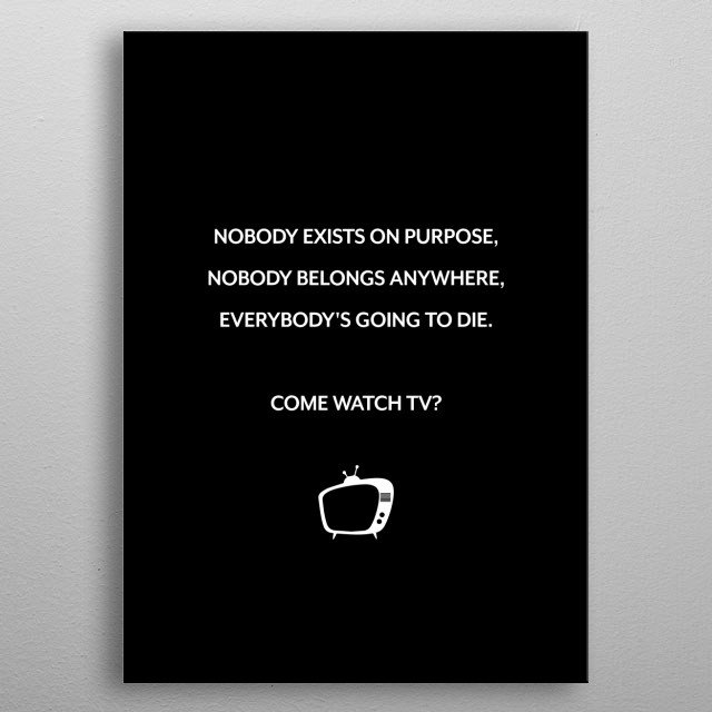 This marvelous metal poster designed by mangohedgehog to add authenticity to your place. Display your passion to the whole world. metal poster