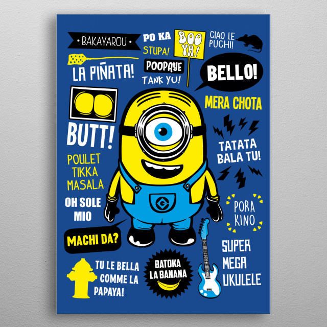 Minion Famous Quotes metal poster