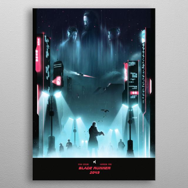 L.A. 2049 metal poster