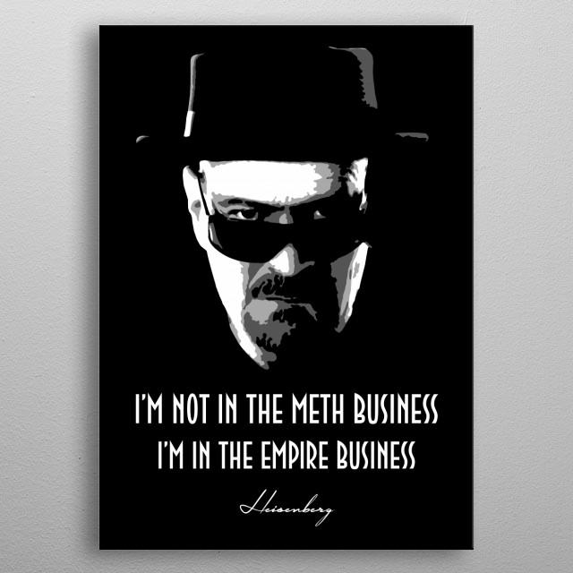 Heisenberg v2.0 metal poster