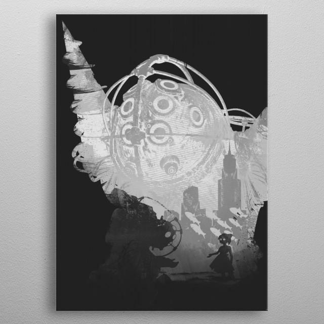Monochrome Big Daddy metal poster