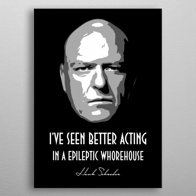 High-quality metal print from amazing Bgw Breaking Bad collection will bring unique style to your space and will show off your personality. metal poster