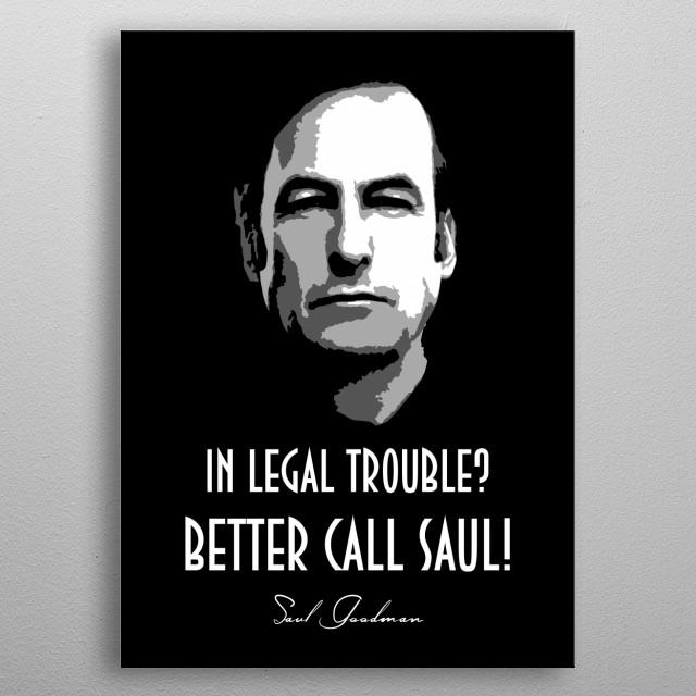 Saul Goodman v2.0 metal poster
