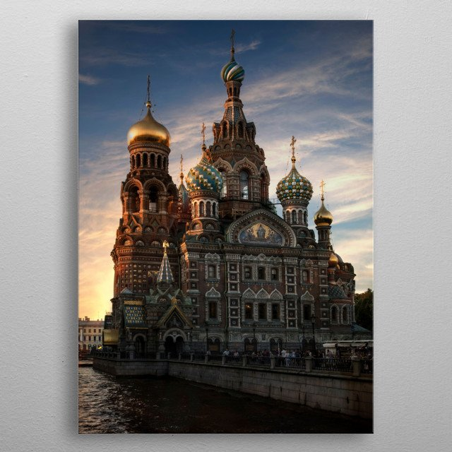 Church of the Savior  in Sankt Petersburg metal poster