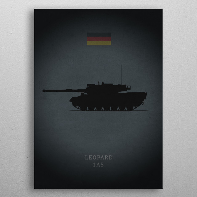 Leopard 1A5 metal poster