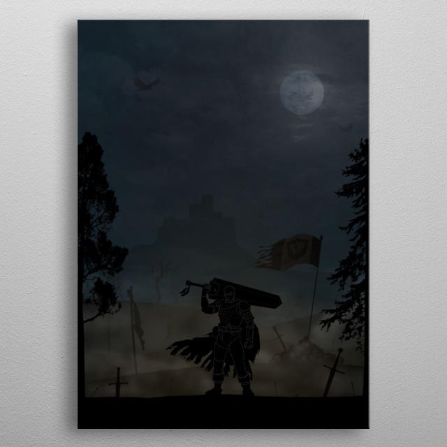 Berserk - Guts metal poster