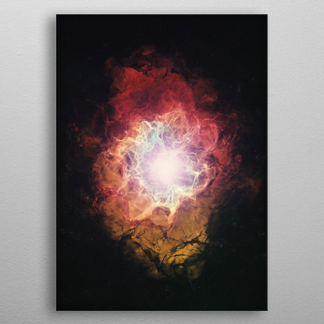 High-quality metal print from amazing Nebula collection will bring unique style to your space and will show off your personality. metal poster