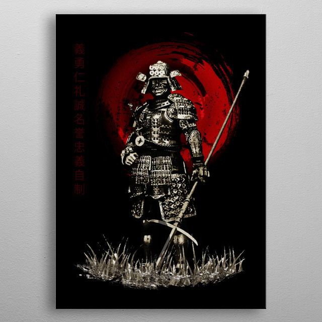 High-quality metal print from amazing Samurai Bushido collection will bring unique style to your space and will show off your personality. metal poster