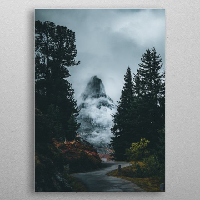 Foggy Mountain  metal poster
