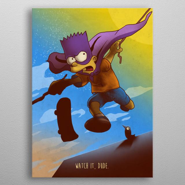 Bart metal poster